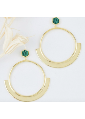 Quill Fine Jewelry & Lifestyle Hexagon Round Drop Earrings