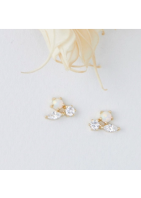 Quill Fine Jewelry & Lifestyle Opal Trio Cluster Stud Earrings