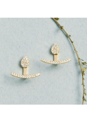 Quill Fine Jewelry & Lifestyle Teardrop Curve Jacket Earrings