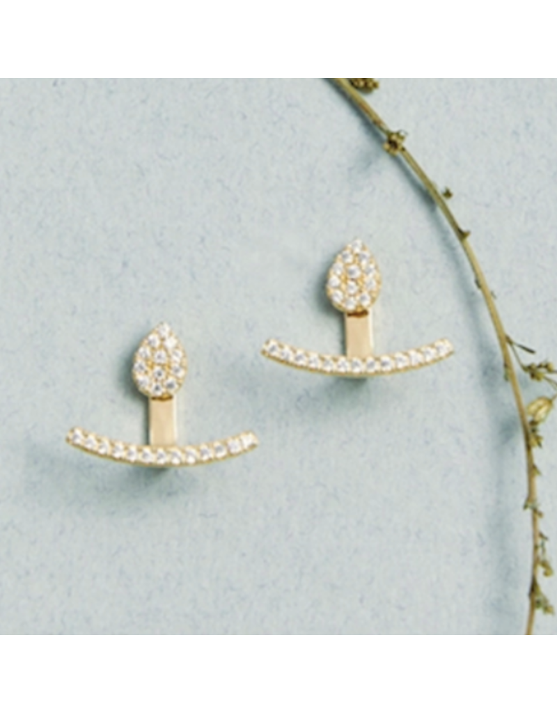 Quill Fine Jewelry & Lifestyle Teardrop Curve Jacket Earrings