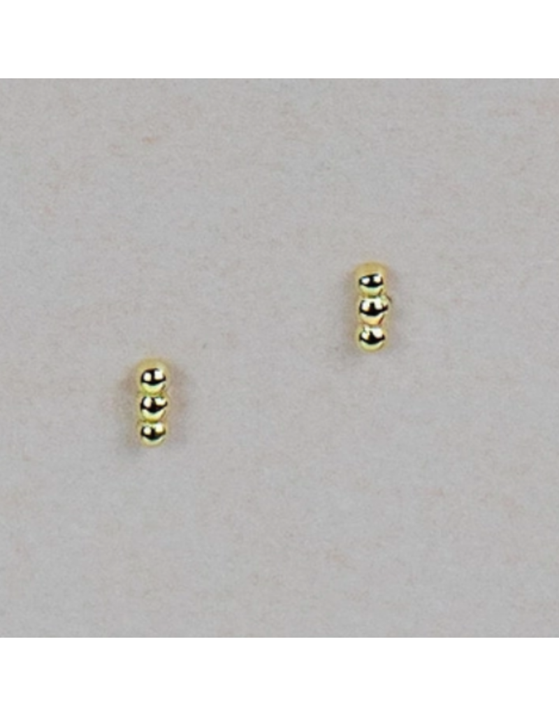 Quill Fine Jewelry & Lifestyle Tiny Triple Ball Stud Earrings