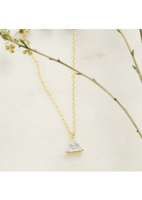 Quill Fine Jewelry & Lifestyle Triangle Solitaire Necklace