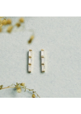 Quill Fine Jewelry & Lifestyle Triple Baguette Earrings