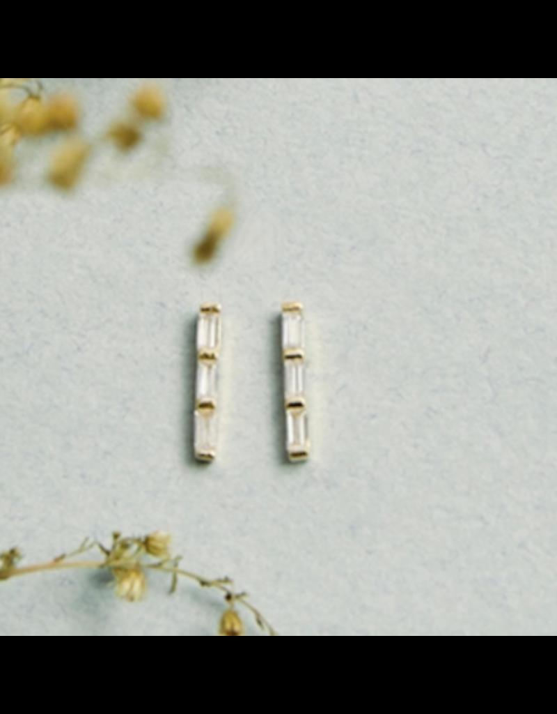 Quill Fine Jewelry & Lifestyle Triple Baguette Earrings