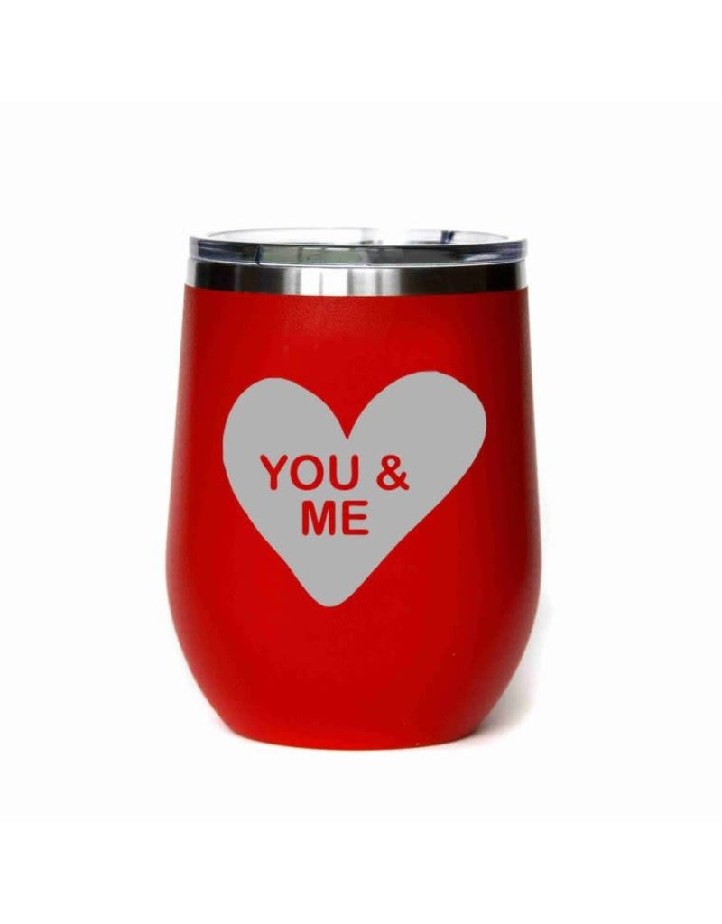 Driftless Studio 16 Oz Valentines Day Wine Tumbler