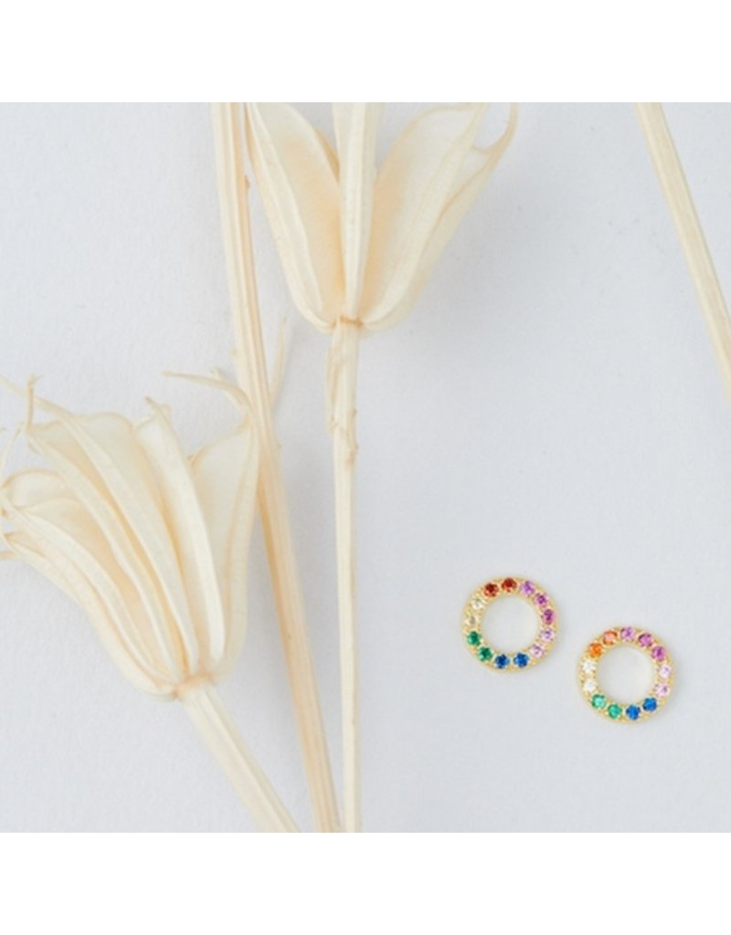 Quill Fine Jewelry & Lifestyle Cutout Rainbow Stud Earrings