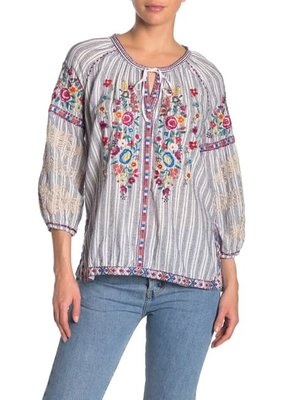 Johnny Was Allegra Peasant Blouse