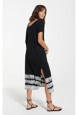 Z Supply Eden Stripe Tie-Dye Dress-Black
