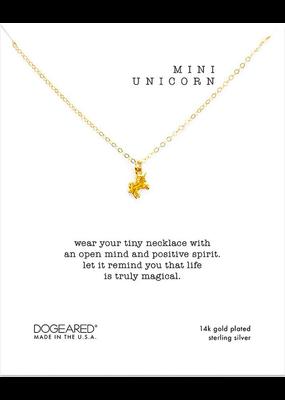 Dogeared Mini Unicorn Necklace Gold