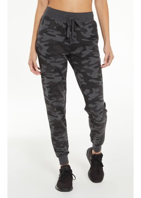 Z Supply The Camo Pant- Camo Dark Charcoal