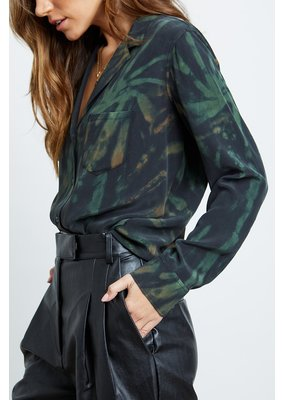 Rails Rails Rebel Silk Blouse Jungle Tie Dye