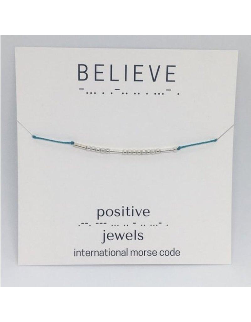Positive Jewels Morse Code Bracelet