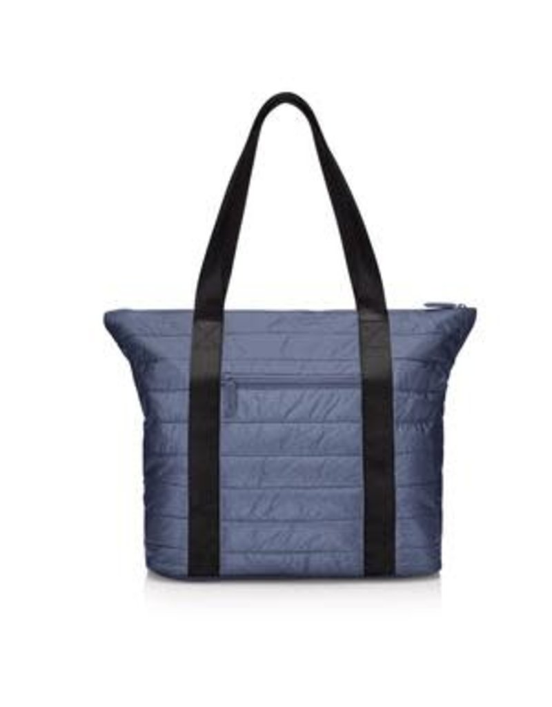 HiLove Puffer Tote- Shimmer Navy