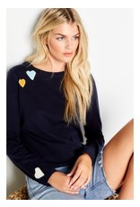 Lisa Todd Crazy In Love Sweater Navy
