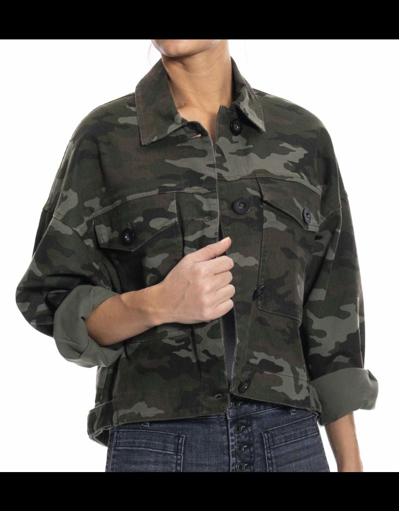 Oat NY Boxy Crop Camo Jacket