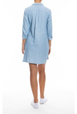 Oat NY Utility Shirtdress Light Blue