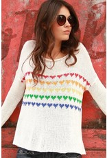 Wooden Ships Candy Hearts V Neck
