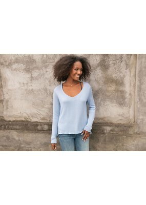 Wooden Ships Suzy Mercer Sweater Terry Blue