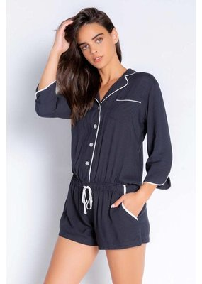 PJ Salvage Fresh for Friday Romper Slate