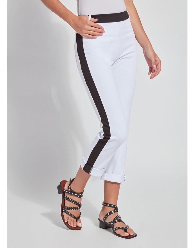Lysse Cropped Roll Hem Pant White/Black
