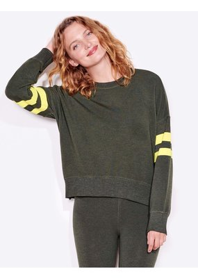Sundry Yellow Stripe Sweatshirt