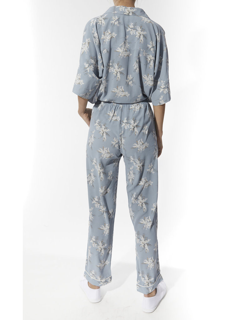 Oat NY Dusty Blue Floral Pant