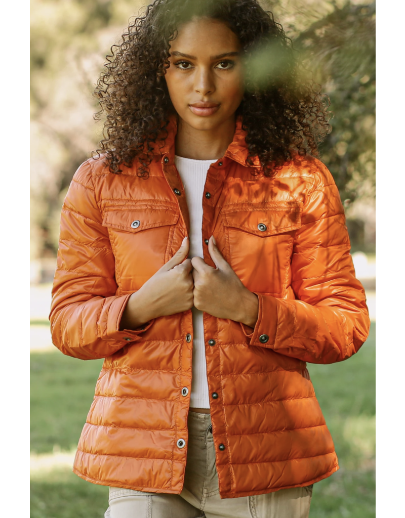 Anorak Quilted Shirt Jacket
