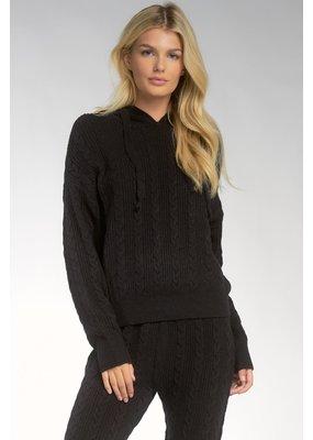 Elan Black Sweater Hoodie