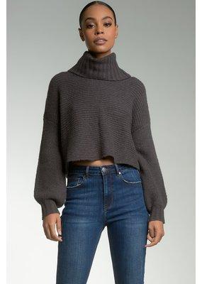 Elan Charcoal Crop Sweater