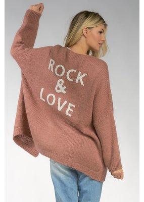 Elan Rock & Love Cardi Mauve