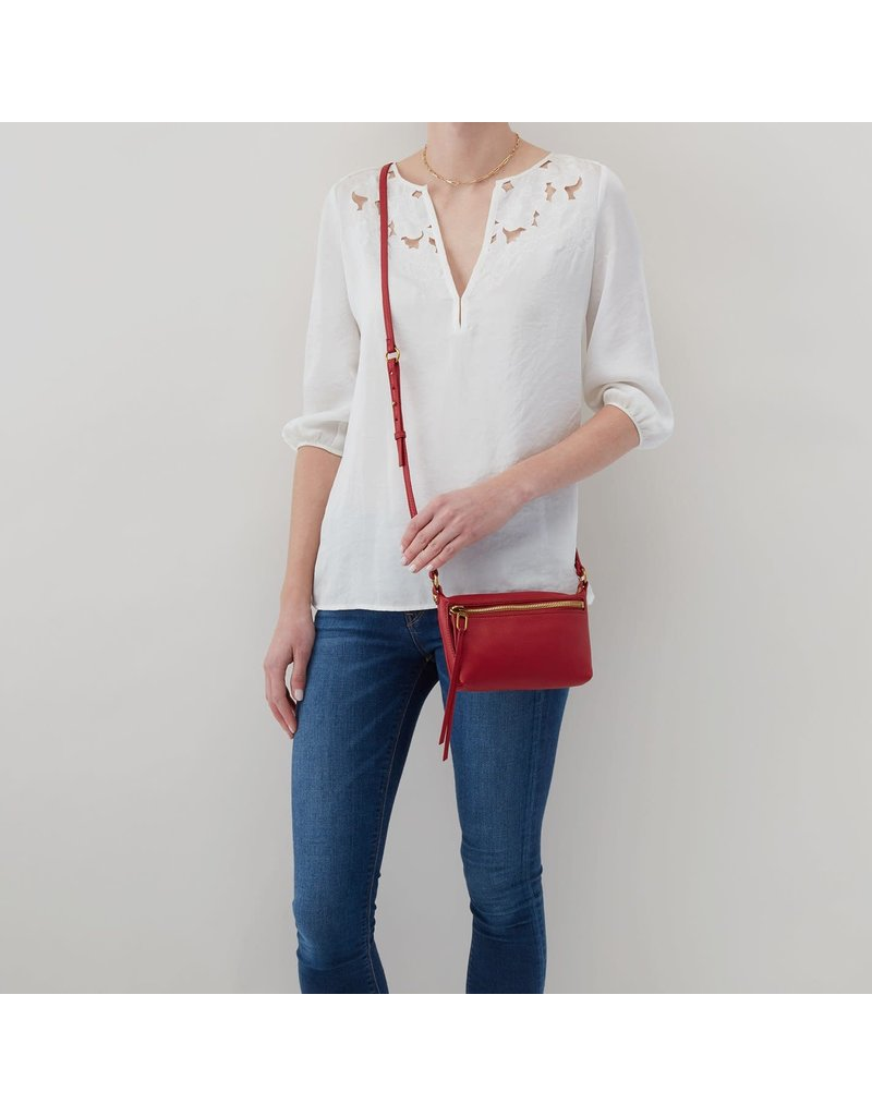 Hobo Bags Pacer Adjustable Crossbody Bag Velvet Hide
