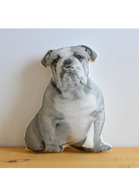 Broderpress Bulldog Pillow