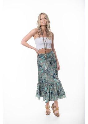 Cienna Silk Wrap Skirt Aqua
