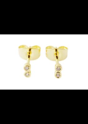 Honeycat Jewelry Double Crystal Stud Earrings