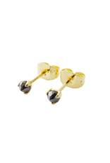 Honeycat Jewelry Iron Ore Point Solitaire Studs