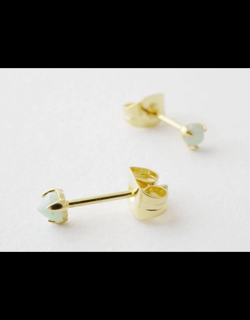 Honeycat Jewelry Jade Point Solitaire Studs