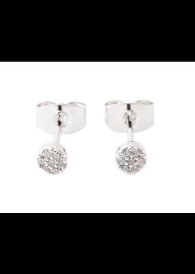 Honeycat Jewelry Mini Circle Crystal Stud Earrings