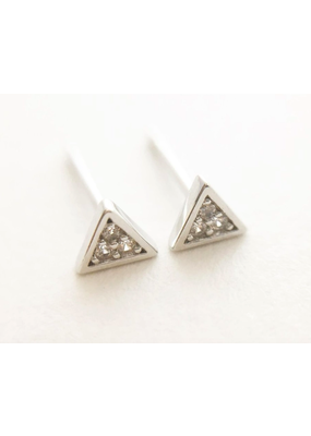 Honeycat Jewelry Mini Crystal Triangle Stud Earrings