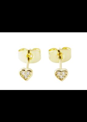 Honeycat Jewelry Mini Heart Crystal Stud Earrings