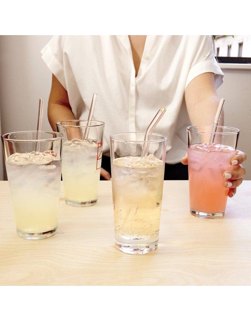 Kikkerland Glass Straws