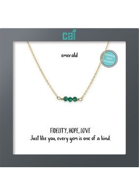 Cool and Interesting Dainty Gemstone Bar Necklace