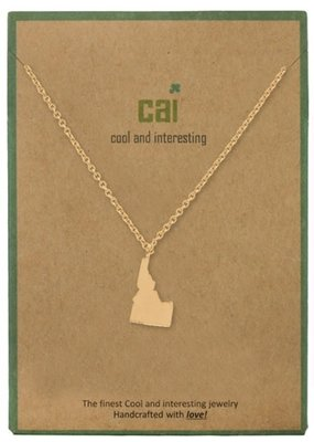 Cool and Interesting Dainty Charm Idaho State Necklace