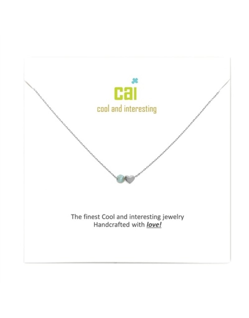 Cool and Interesting Mini Heart Birthstone Necklace