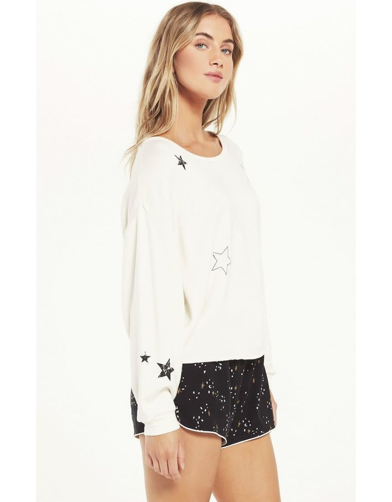 Z Supply Night Owl Starry Sweatshirt