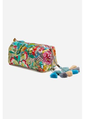 Johnny Was Quilted Makeup Bag
