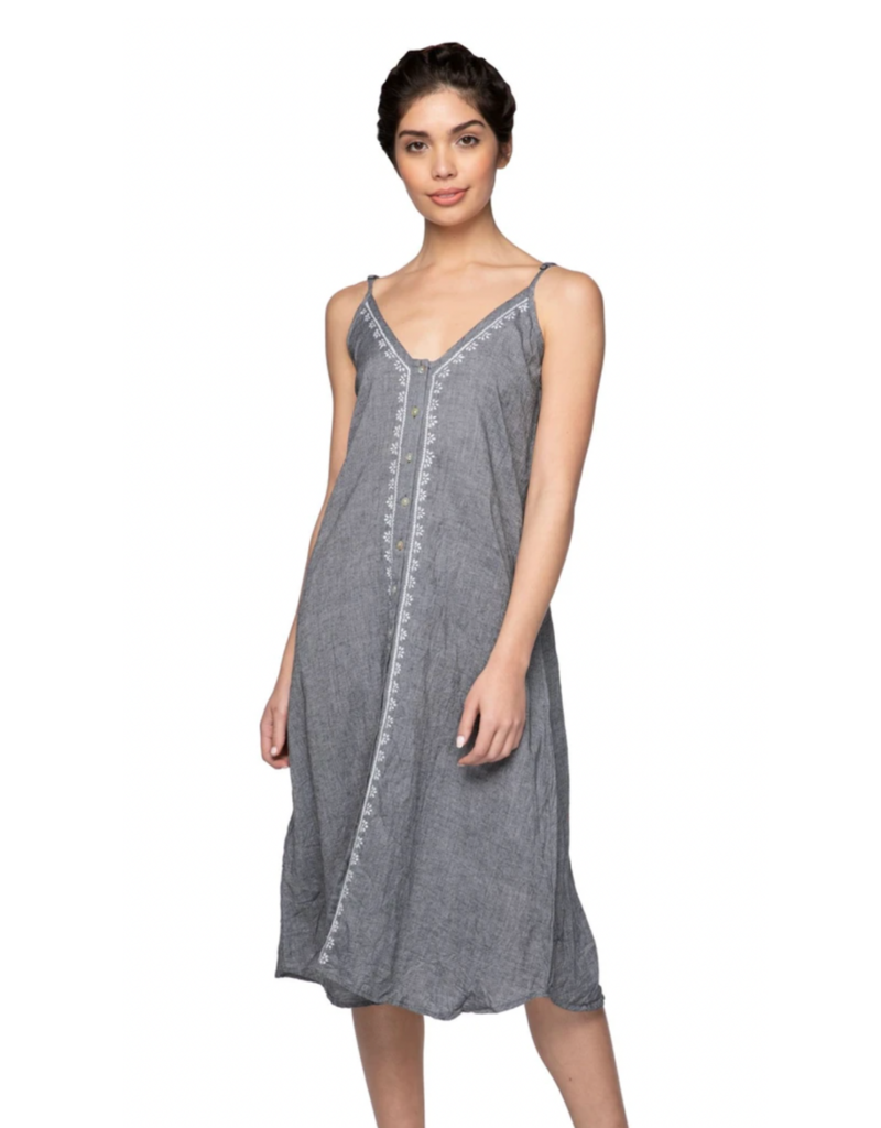 Subtle Luxury Aubrey Midi Dress Charcoal