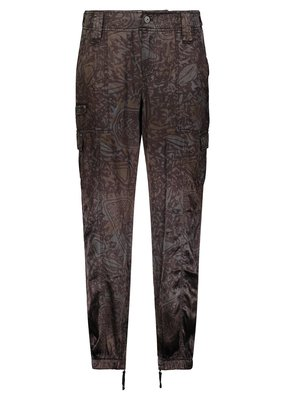 Marrakech Harmony Printed Stretch Cupro Jogger Tribal Abyss