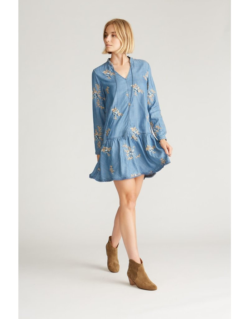 Driftwood Shaye Dress - Blue Ditzy Garden