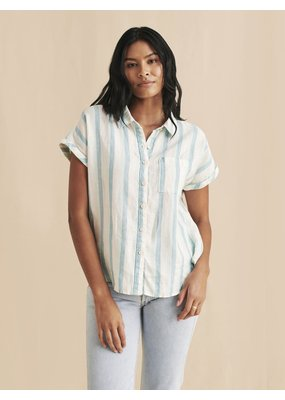 Faherty Avery Shirt Ocean Catalina Stripe