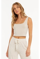 Z Supply Time Out Crop Tank- Shadow Grey
